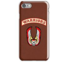 The Warriors - Faux leather bkgd iPhone Case/Skin