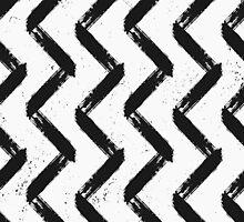 Black & White Chevron by Iveta Angelova