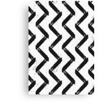 Black & White Chevron Canvas Print