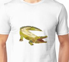 Alligator Crocodile Gaping Mouth Low Polygon Unisex T-Shirt