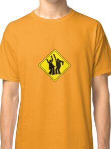 DANCERS CROSSING WARNING ROAD SIGN Classic T-Shirt