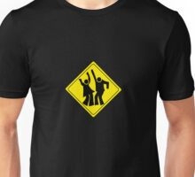 DANCERS CROSSING WARNING ROAD SIGN Unisex T-Shirt