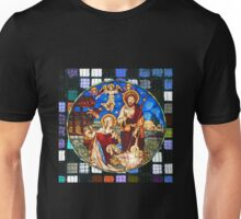 Nativity Stained Glass Unisex T-Shirt