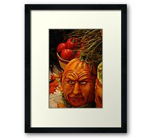 Ole Man Pumpkin Framed Print