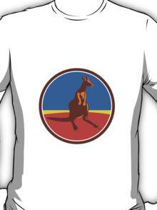 Kangaroo Circle Retro T-Shirt