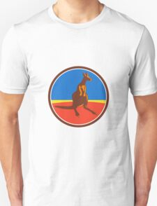 Kangaroo Circle Retro Unisex T-Shirt