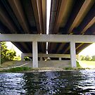 Under the interstate 90 bridge by Mike Cressy