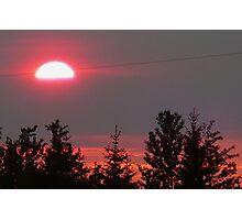 Smoky July Sunset Photographic Print