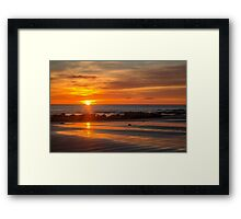 Day Breaks over Fossil Bluff Framed Print