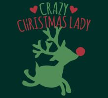 Crazy Christmas lady with cute rudolph reindeer by jazzydevil