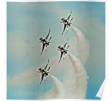 Thunderbirds In Diamond Formation Poster