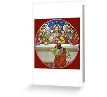Last Supper Stained Glass Greeting Card