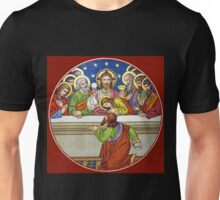 Last Supper Stained Glass Unisex T-Shirt
