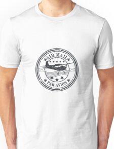Vector grunge air mail  Unisex T-Shirt