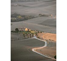 Tuscan Farmland in late summer Photographic Print