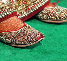 Traditional Designer Shoes/Pencil heel Slipper by RajeevKashyap