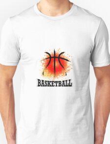 Vector Grunge Basketball T-Shirt