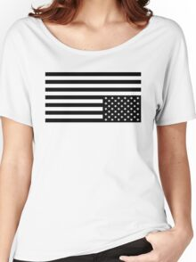 Black On White Women's Relaxed Fit T-Shirt