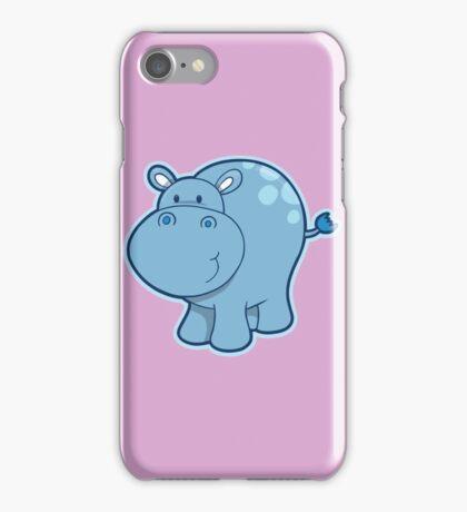 Sweet blue hippo iPhone Case/Skin