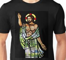 Jesus Stained Glass Unisex T-Shirt