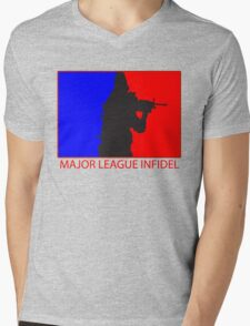 Major League Infidel Mens V-Neck T-Shirt