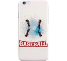 Vector grunge baseball  iPhone Case/Skin
