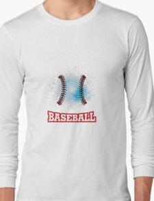 Vector grunge baseball  Long Sleeve T-Shirt