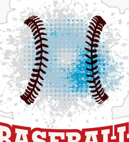 Vector grunge baseball  Sticker