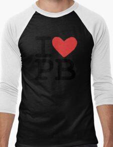 I LOVE PB Men's Baseball ¾ T-Shirt
