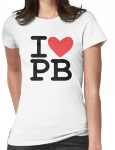 I LOVE PB Womens Fitted T-Shirt