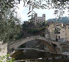 Dolceacqua, the bridge and the castle by presbi