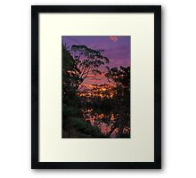 Glimpse of a Sunset Framed Print
