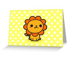 Kawaii lion Greeting Card