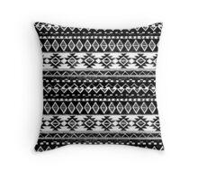 TRIBAL MONOCROME Throw Pillow