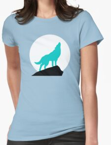 Blue Wolf Womens Fitted T-Shirt