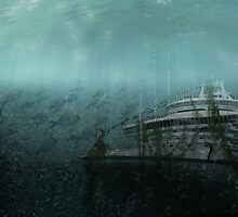 Sunken ship by nishagandhi