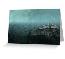 Sunken ship Greeting Card