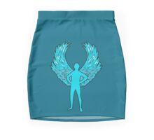 Laughing man angel Mini Skirt