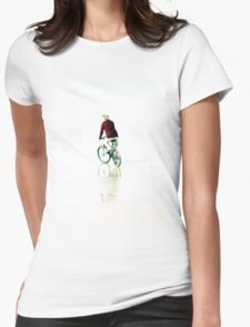 The Cyclist Womens Fitted T-Shirt
