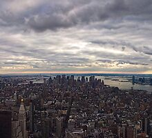 Panoramic view of New York City by Andrea Rapisarda