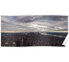 Panoramic view of New York City Poster