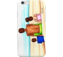 Father's Day, beach day illustration. Hanging out with Dada. iPhone Case/Skin