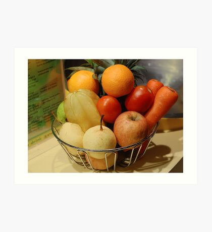 Fruits and Vegetables Art Print