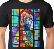 Stained Glass Nativity Scene Unisex T-Shirt