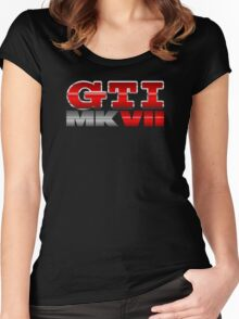 VW GTI MK7 Icon Women's Fitted Scoop T-Shirt
