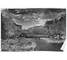 Old Mills Black and White Poster