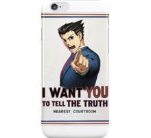 phoenix wright wants you iPhone Case/Skin