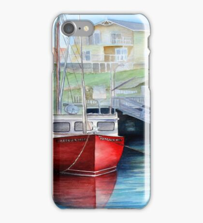 Peggys Cove Red Boat iPhone Case/Skin