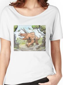 Happy Triceratops Women's Relaxed Fit T-Shirt