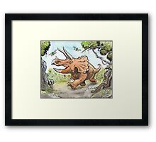 Happy Triceratops Framed Print